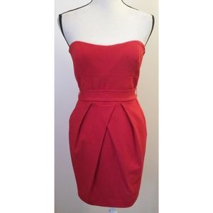 Cynthia Steffe Red Strapless Cocktail Dress Size 6